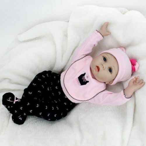 22  Muñeca bebé recién nacido Niño Juguetes realista Babe Girl Doll disquete cabeza realista