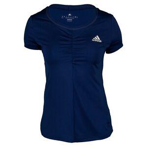 éNergique Adidas Women's All Premium Tennis Tee Night Sky Taille Sx Rrp £ 48 Box84 39 K-afficher Le Titre D'origine