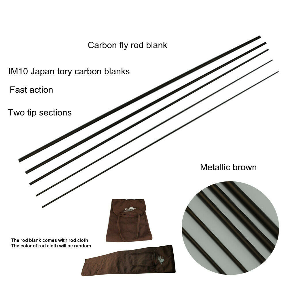 Aventik Nymph Casting Fly Rod Blank 10'0'' LW3 4, Fast Action, Metallic Brown