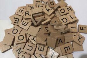 Scrabble pezzi legno plastica piastrelle lettere full set