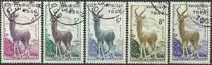 Timbres-Animaux-Togo-266-70-o-lot-14109