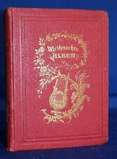 Weihnachtsalbum mit Gedichten um 1870 - Original!