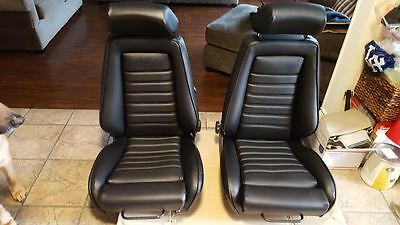 RECARO SEAT KIT E21 E10 320IS (2) UPHOLSTERY KIT OEM GERMAN VINYL EMBOSSED NEW