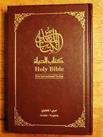 Arabic/english Bible Contemporary/niv The Book Of Life, Burgundy