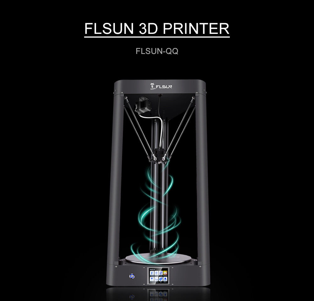 Flsun-QQ-Spro  high precision 3d printer+Touch screen+Wifi Support+Titan Extrude extrude precision