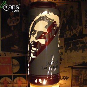 Bob Marley Beer Can Lantern! Jamaica Red Stripe Reggae Pop Art Lamp Unique Gift