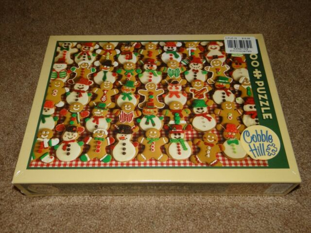 Cobble Hill CHRISTMAS BAKE SALE 1000 Piece Jigsaw Puzzle GINGERBREAD MAN Sealed