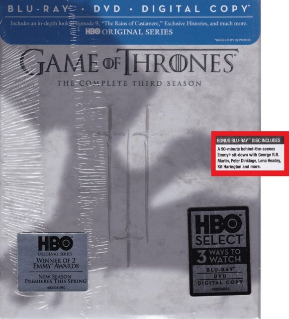Game Of Thrones Third Season 3 Blu Ray 6 Disc Set Target Edition For Sale Online Ebay