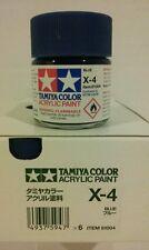 Tamiya acrylic paint X-4 Blue. 23ml.