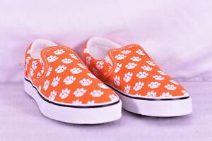 Unisex-Row-One-NCAA-Clemson-Tigers-Slip-On-Low-Top-Shoes-Orange