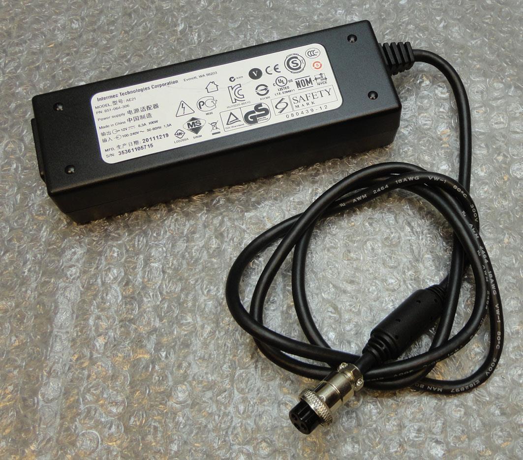 Intermec 851-064-306 AC Adapter Charger 12V 8.3A 100W Power Supply (PSU) 3-Pin