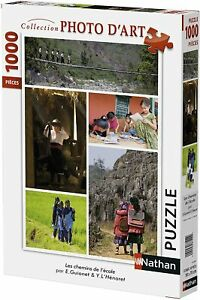 Nathan-87454-Puzzle-1000-Pieces-Collection-Photo-D-039-art-Les-Chemins-De-L-039-ecole