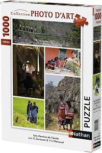 Nathan-87454-Puzzle-1000-Pieces-Collection-Photo-D-039-art-Les-Chemins-De-L-039-ecole