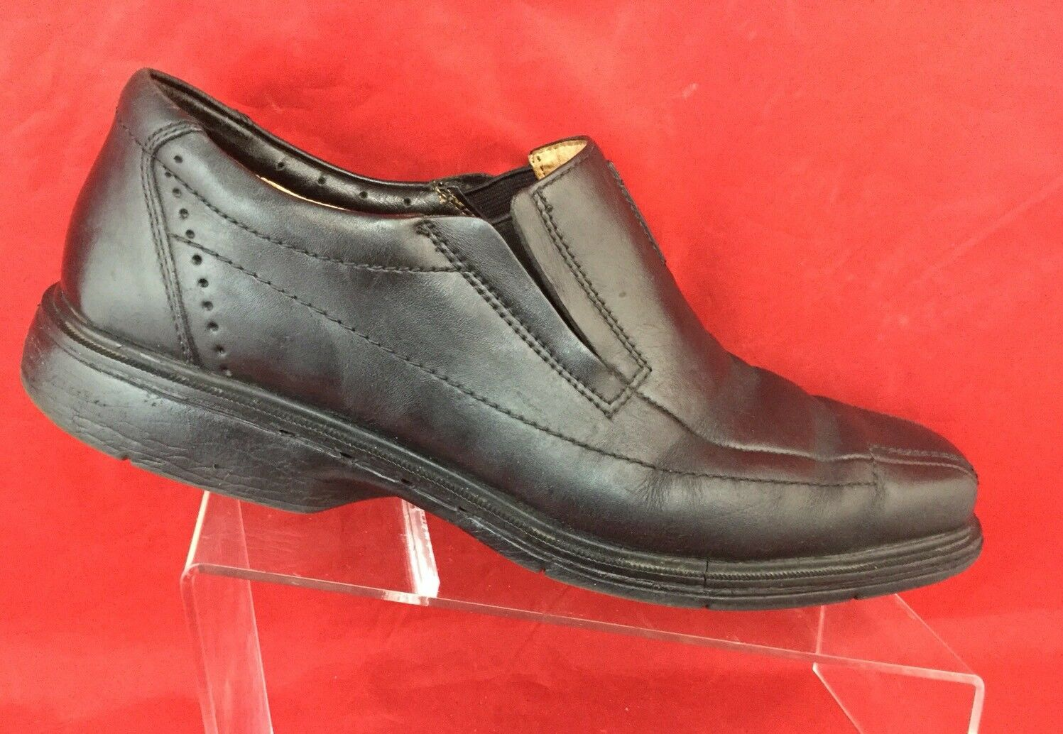 2019 real utterly stylish Good Prices Clarks Men's 86090 Unstructured Un.Sheridan Black Leather Slip On Dress  Shoe 9.5