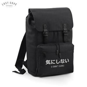 interessa Retro mi Marrone Grunge Slogan Vintage Nero Zaino Non nere cinghie Cinghie Giapponese Bag School Zaino zg4qnExw5