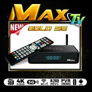 Details about MAXTV GOLD 5G 4K ULTRA-HD IPTV BOX + ANDROID 7 1 QUAD-CORE 64  BIT