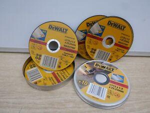 10-X-DEWALT-DT42335TZ-DT42240Z-115MM-1-2MM-INOX-STAINLESS-STEEL-GRINDER-DISCS