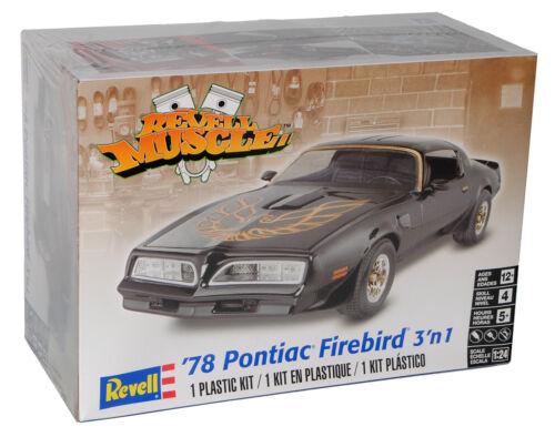 Pontiac Firebird 1978 3 in 1 Schwarz Bausatz Kit 1//24 Revell Modell Auto mit o..