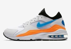 lower price with cf45f 13110 Image is loading NIKE-AIR-MAX-93-306551-104-WHITE-BLUE-