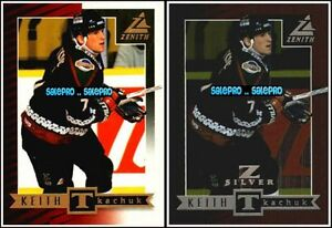 2x-ZENITH-1997-KEITH-KTACHUK-NHL-COYOTES-SHORT-PRINT-BASE-amp-Z-SILVER-CARDS-LOT