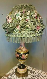 Amazing Vintage Porcelain Hand Painted Floral Gold