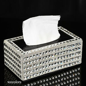 Super bling crystal handmade diamond holder home decor pu for Crystal home decorations