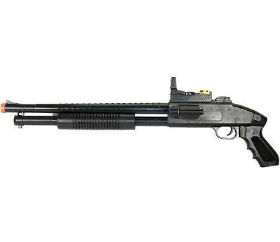 UKARMS SPRING AIRSOFT PUMP SHOTGUN PISTOL HAND GRIP GUN w/ LASER LIGHT SCOPE BB
