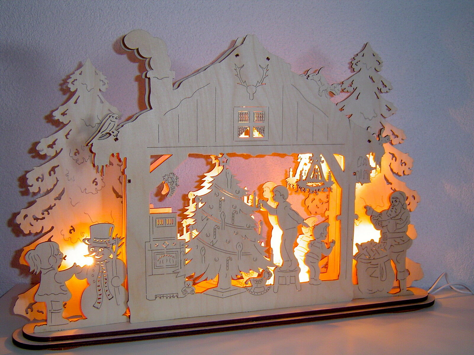 3d Schwibbogen Lumières Arc lichterhaus hiver chambrées original les Monts Métallifères 10511