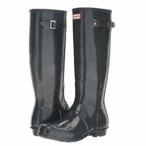 Hunter Original Tall Ladies Dark Slate Boots 11