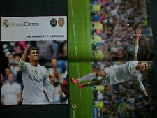 REAL MADRID v FC BARCELONA PROGRAMME 21.11.2015 Poster CRISTIANO RONALDO