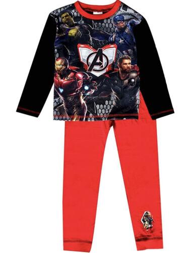 Garçons Marvel Avengers Pyjama Pjs Nightwear Character Enfants Cadeau Comic 4-10 ans