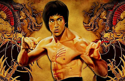 A3 Poster Bruce Lee in Enter the Dragon Picture Poster Art Kung Fu MMA