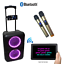 thumbnail 4 - ABRATO S-2802 + DAC (S-TV) BLUETOOTH KARAOKE POWERED SPEAKER + 2 WIRELESS MIC'S