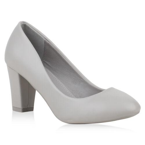 893322 Klassische Damen Pumps Leder-Optik High Heels Elegante Schuhe Mode
