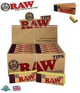 RAW-ROACH-TIPS-Cigarette-Rolling-Paper-Tip-Filter-Tips-Natural-Unrefined-Roach