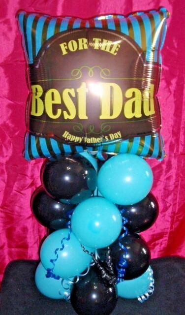 HAPPY  BIRTHDAY NO HELIUM NEEDED DAD BALLOON TABLE DECORATION DISPLAY