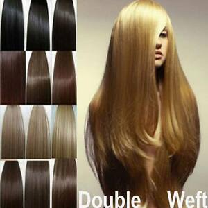 Grade aaaa thick clip in remy human hair extensions full head image is loading grade aaaa thick clip in remy human hair pmusecretfo Images