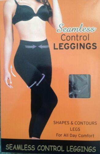 Sin costuras de la Alta Cintura Costuras Firme Tummy Control Adelgazar Mallas Negro 8-30