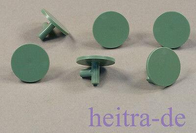 PüNktlich Lego Ritter - 6 X Rundschild Sandgrün, Schild Rund, Ritterschild / 59231 Neuware Modernes Design