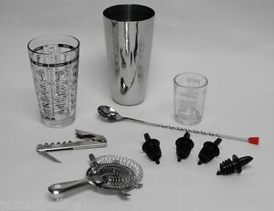 Image Is Loading 10 Pc Professional Bartender Tail Mixing Set Bar