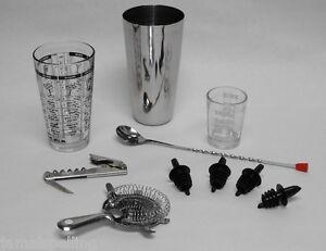 10 pc professional bartender cocktail mixing set bar tools accessories kit ebay. Black Bedroom Furniture Sets. Home Design Ideas