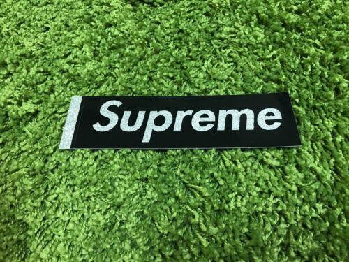 Black Supreme S//S 2016 Glitter Box Logo Sticker