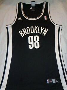 50954653f27 ADIDAS Brooklyn Nets JASON COLLINS # 98 NBA 4 her Jersey Ladies ...
