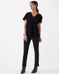 Trouser Donna Black New Jigsaw Stepped Hem xw0qTEC