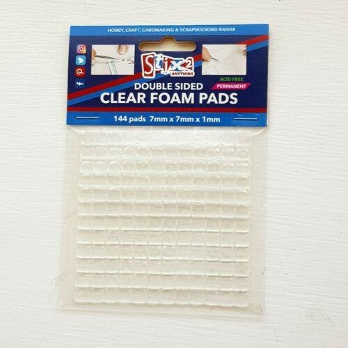 2 x sheets of stix2 clear foam pads
