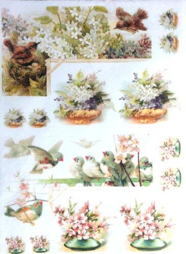 Rice Decoupage Paper / Decoupage Sheets / Scrapbooking / Lovely birds 2
