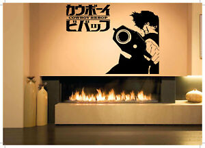 Wall-Decor-Art-Vinyl-Sticker-Mural-Poster-Space-Cowboy-Bebop-Anime-Cartoon-SA976