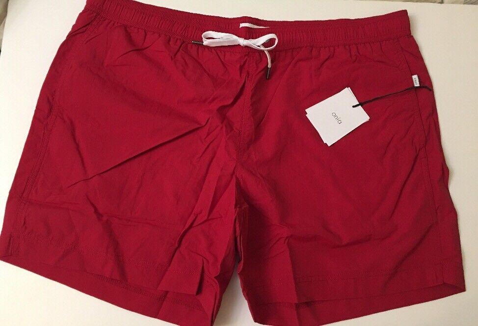 c7c8fbb94e ONIA Charles Mens Bathing Suit Swim Trunk XXL NWT Dark pink Red Sz  nokunk4816-Swimwear