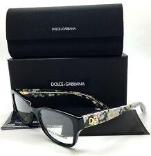 Dolce & Gabbana Black Eyeglasses DG 3204 2846 53 mm Flowers Demo Lenses