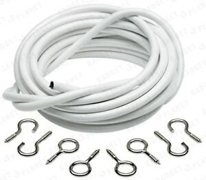 6-METRE-NET-CURTAIN-WIRE-FREE-HOOKS-amp-EYES-FREE-DELIVERY-CHEAPEST-ON-EBAY